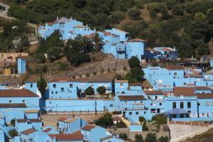 Júzcar - Az andalúz hupikék falu 002