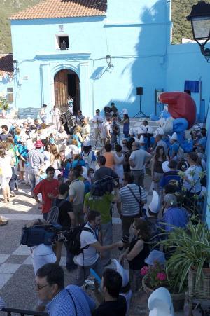 Júzcar - Az andalúz hupikék falu 009